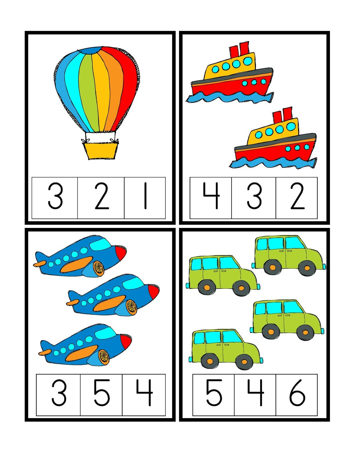 Preschool Printables Transportation