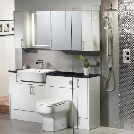 Bathroom Units vetro white gloss fitted bathroom furniture   roper rhodes