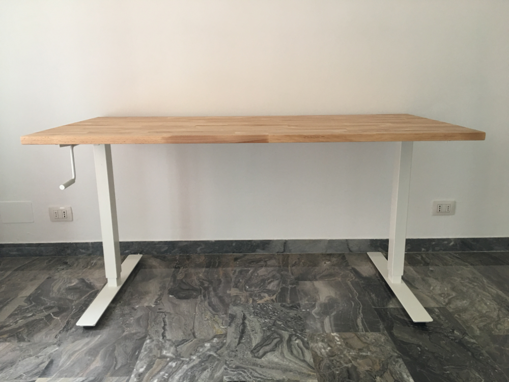 Instructions For How To Affix An Ikea Gerton Table Top To The Ikea Bekant Sit St In 2020 Ikea Tischgestell Ikea