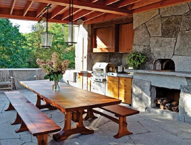 Love this table for courtyard maybe allie and i can build for Courtyard entertaining ideas