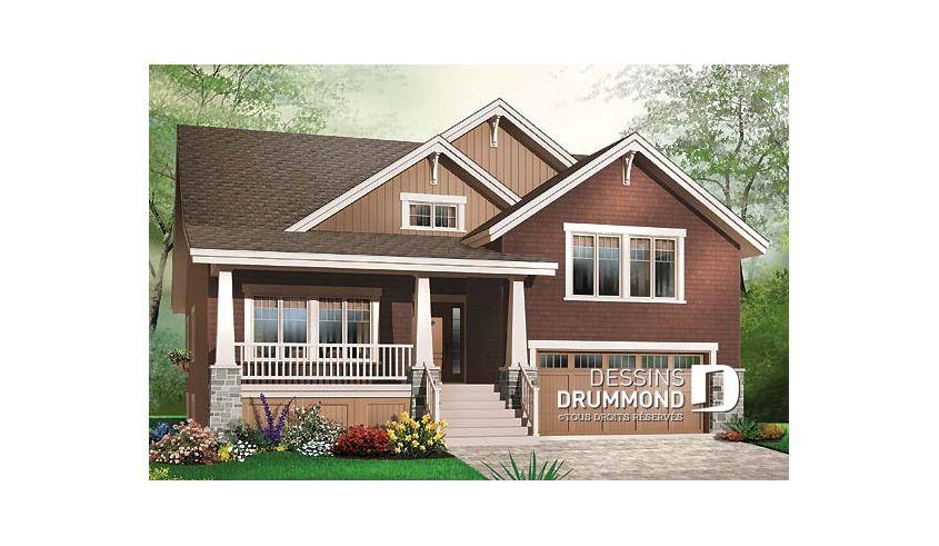 Plan de maison unifamiliale Fabienne No 3441 Plans de maison