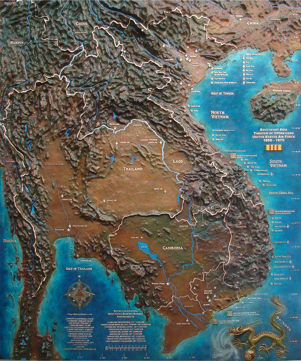 Arts of War on the Web » Prints of the Nance Vietnam Bronze Map