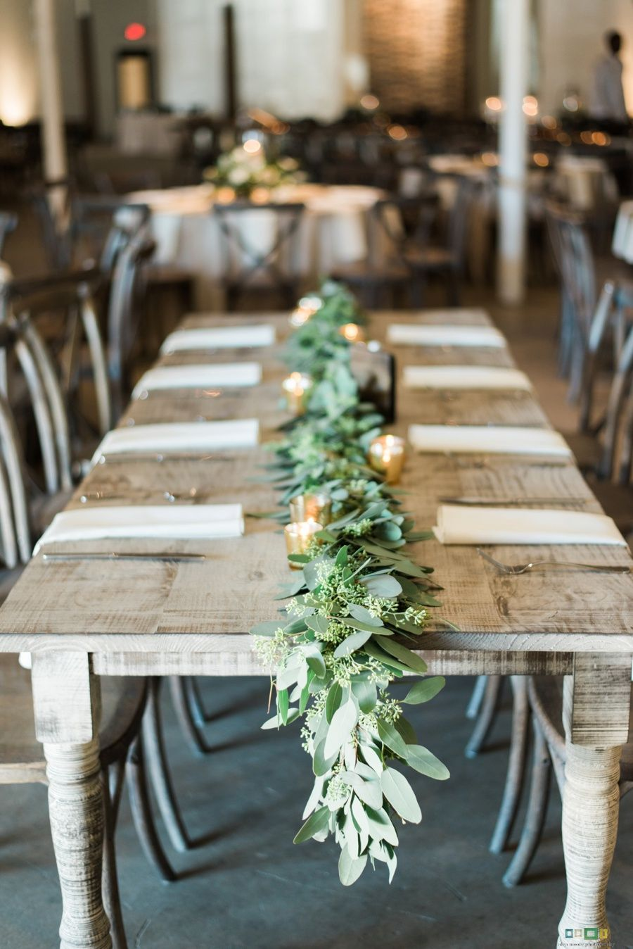 Wood wedding decoration ideas  Industrial Chic Wedding Décor FarmTable  Wedding  Pinterest
