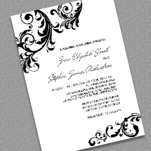 Elegant Wedding Invitation With Swirls Borders Diy Free Print At Home