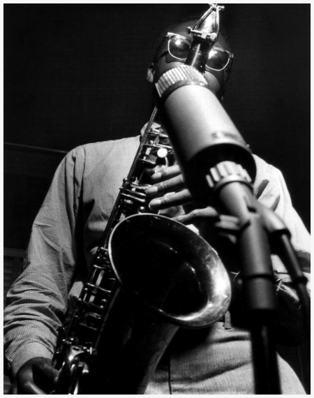 """Hank Mobley during """"Horace Silver's The Stylings of Silver session"""" Hackensack NJ, May 8 1957 Photo by Francis Wolff"""