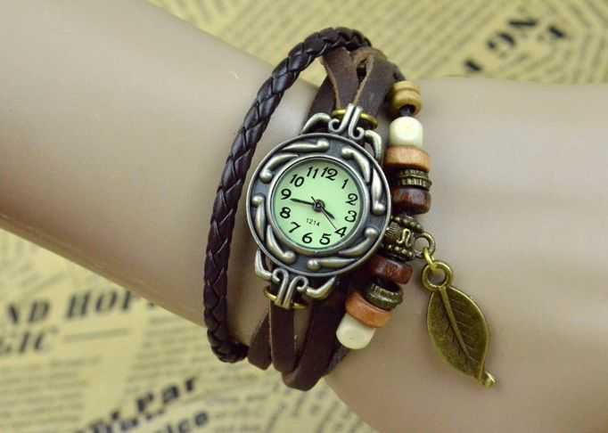 Leder Uhr Armband Uhr Kunst Lederarmband uhren von Kunsthandwerk Leder Uhrenarmband Uhr auf DaWanda.com