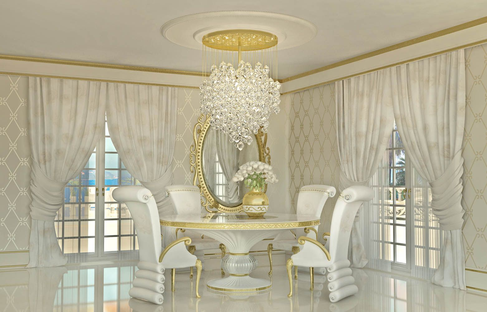 Lidia Bersani Luxury Interior Design beautiful white armchair