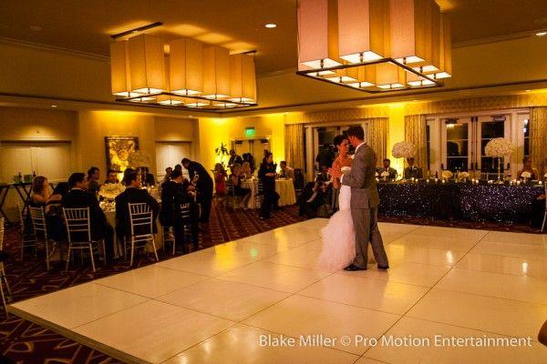 Bride and groom's first dance at their Estancia La Jolla wedding