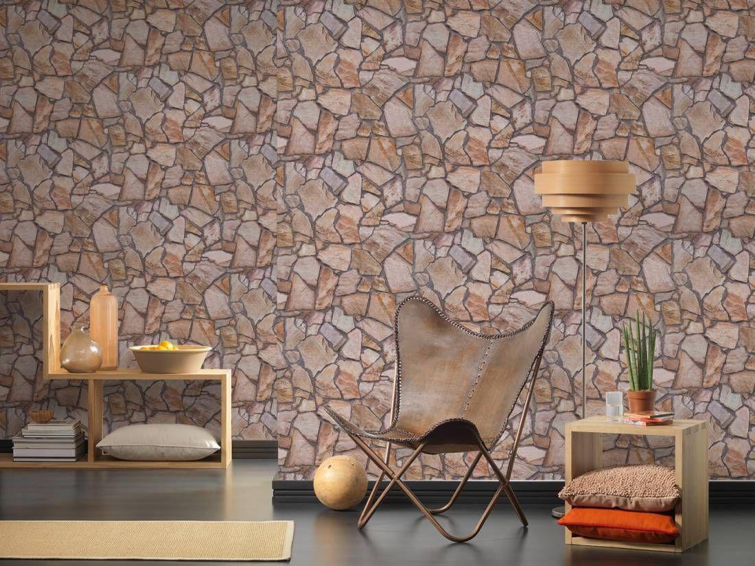 Landhaus Modern Tapete Schlafzimmer