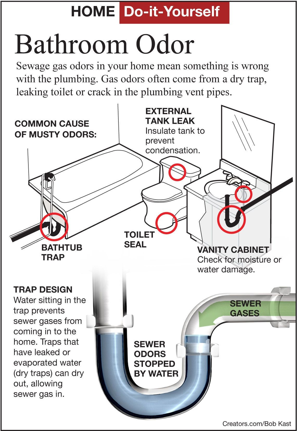 Sewer Gas Smell In Bathroom Septic Tank