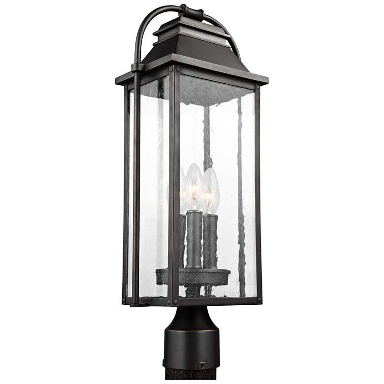 Wellsworth 20 3 4 High Bronze 3 Light Outdoor Post Light 18y07 Lamps Plus In 2020 Outdoor Post Lights Post Lights Outdoor Lighting