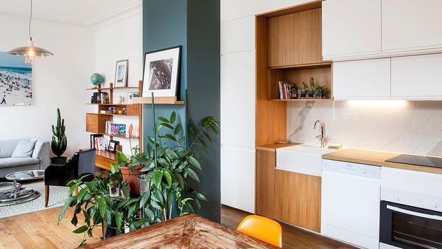 Appartement Paris 9  un 63 m2 entre nature et déco tendance True - comment monter une cuisine brico depot