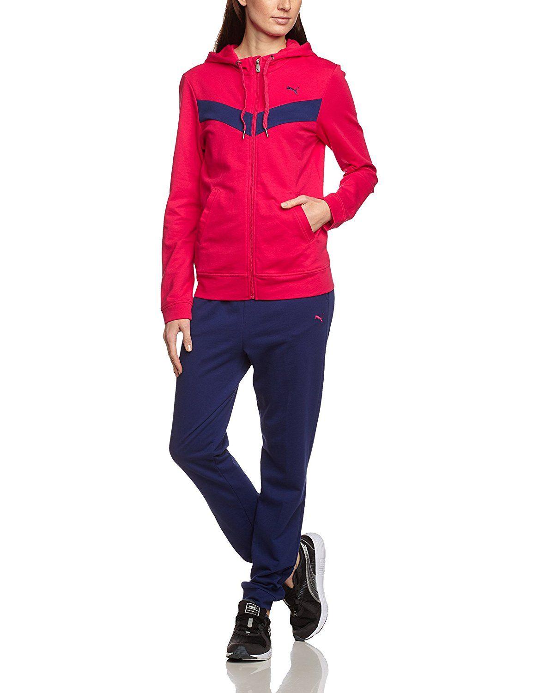 Puma Damen Trainingsanzug Fun Sweat Suit Closed | Leather