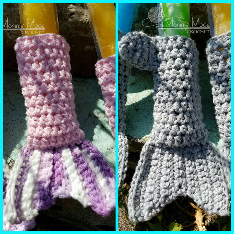 CROCHET PATTERN* Shark/Mermaid Tail Ice Pop Cozies by ...