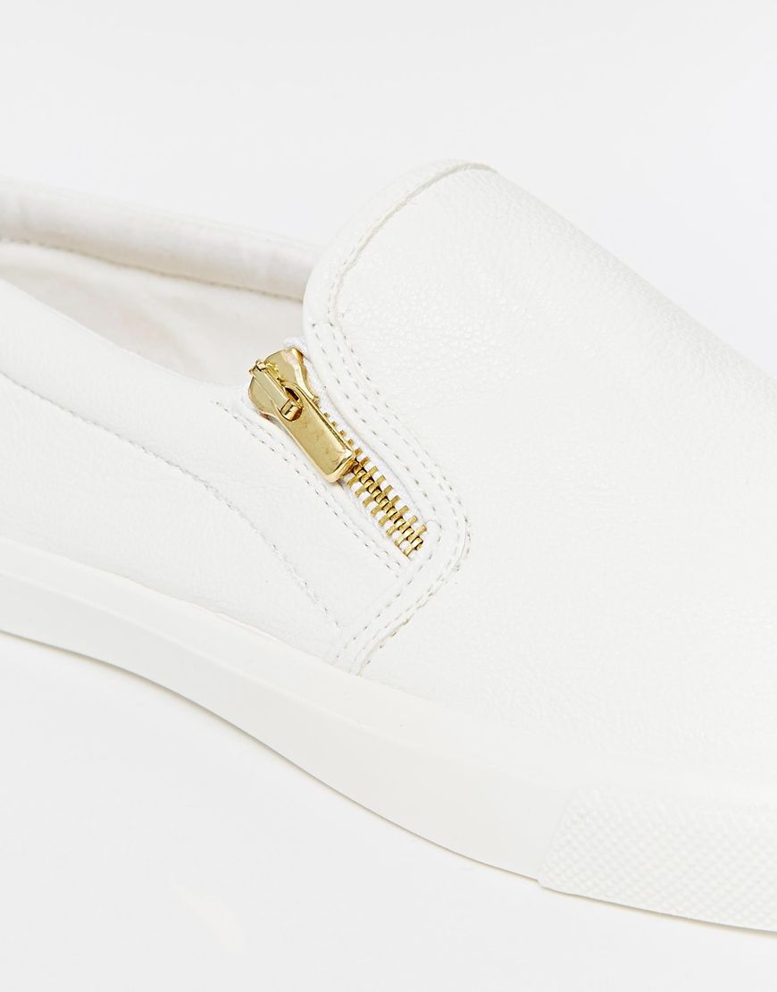 ASOS Slip On Plimsolls with Zips at