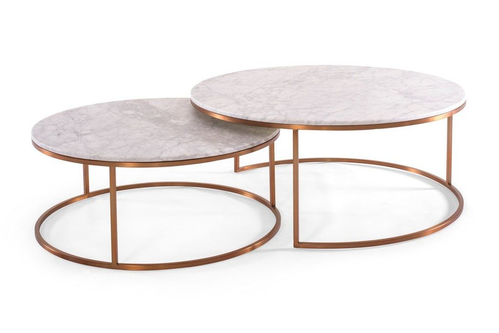 Elle Round Marble Nest Coffee Tables Available From Urban