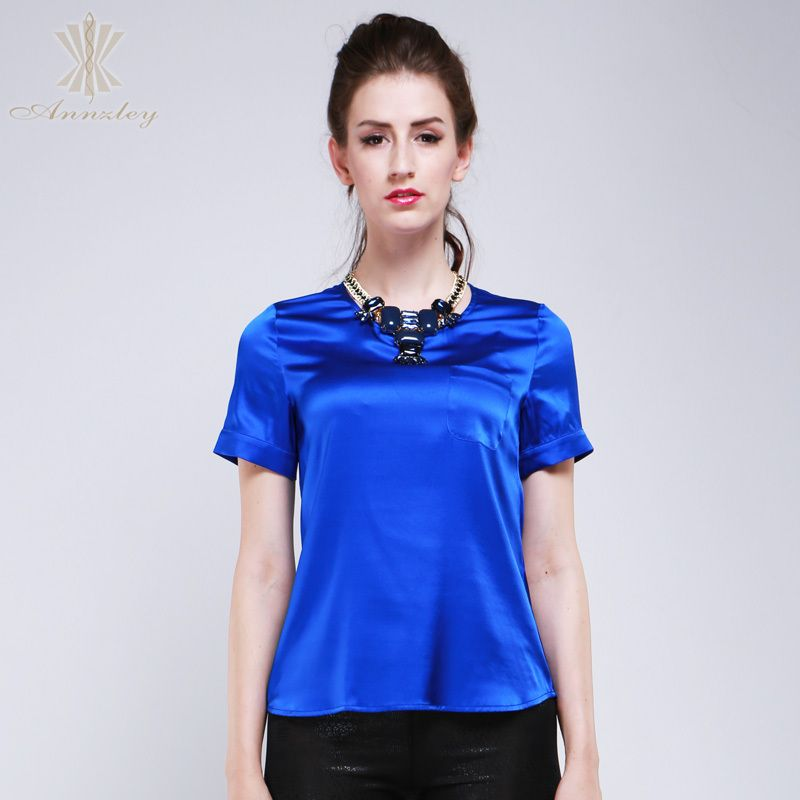 Aliexpress.com : Buy Annzley 100% Pure Silk Blouses For Women 2014 Short  Sleeved - Aliexpress.com : Buy Annzley 100% Pure Silk Blouses For Women 2014