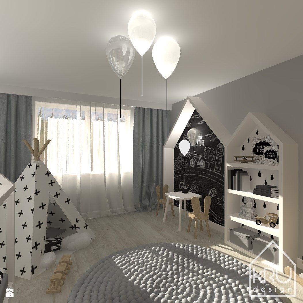 Pokój dziecka styl Skandynawski - zdjęcie od KRUdesign - Pokój ...