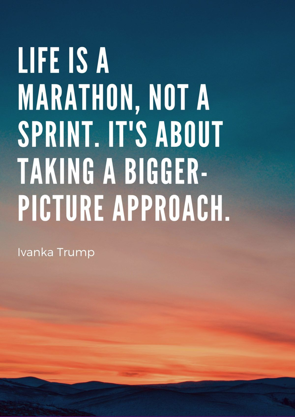 Life is a Marathon not a Sprint