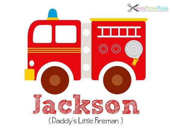 fire truck personalized baby boy nursery room by rockpaperprints rh pinterest co uk Vintage Fire Truck Clip Art Basic Fire Truck Clip Art