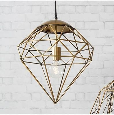 Roxbury gold wire cage diamond pendant light my beach cottage roxbury gold wire cage diamond pendant light mozeypictures Image collections