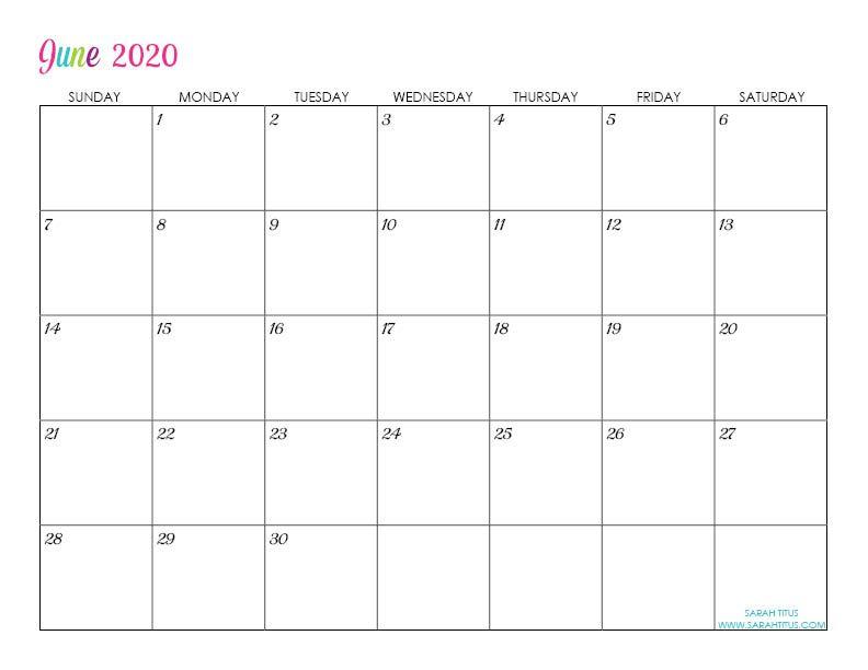 Custom Editable 2020 Free Printable Calendars Calendar Printables Monthly Calendar Printable Editable Calendar