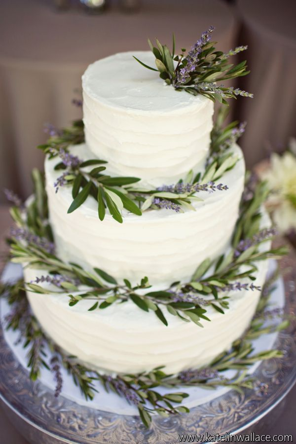 Photo of Olive and Lavender Cake – Art with Nature Floral Design and Katelin Wallace Phot…