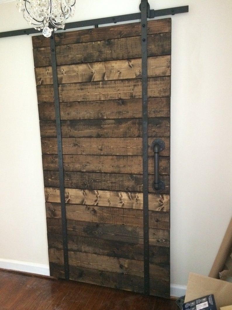 Porte Grange Coulissante Bois fait à la main en bois rustique intérieur grange portes