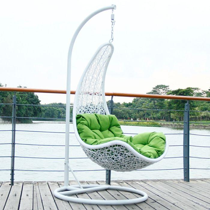 Popular h ngesessel mit gestell f r terrasse aus aluminium und rattan