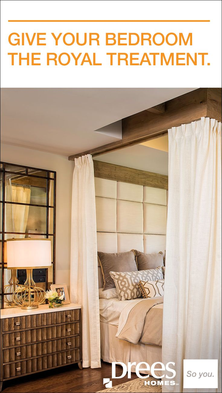 Bedroom ideas window behind bed  note ceiling track for drapes around bed  love nest ideas