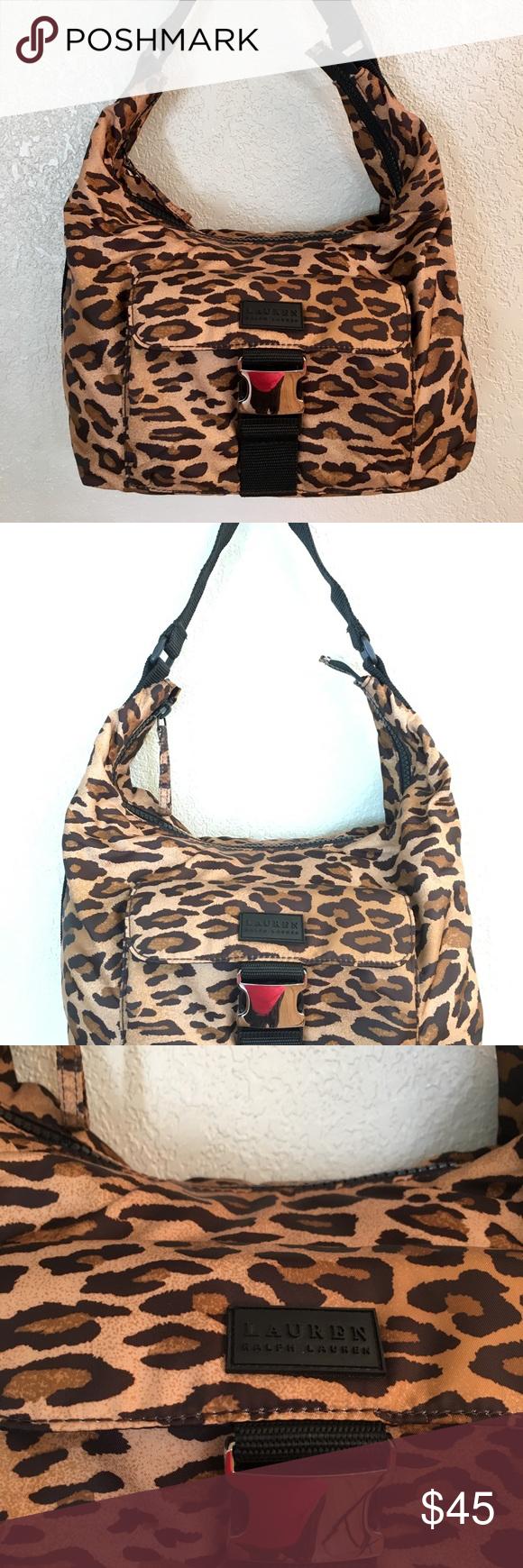 bf7068ac2c Lauren Ralph Lauren Cheetah Nylon Shoulder Handbag Brand- Lauren Ralph  Lauren Style- Shoulder Material