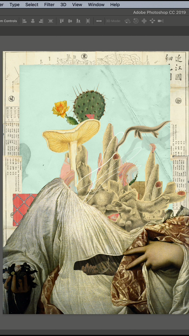 FREE Photoshop digital collage class. Learn online