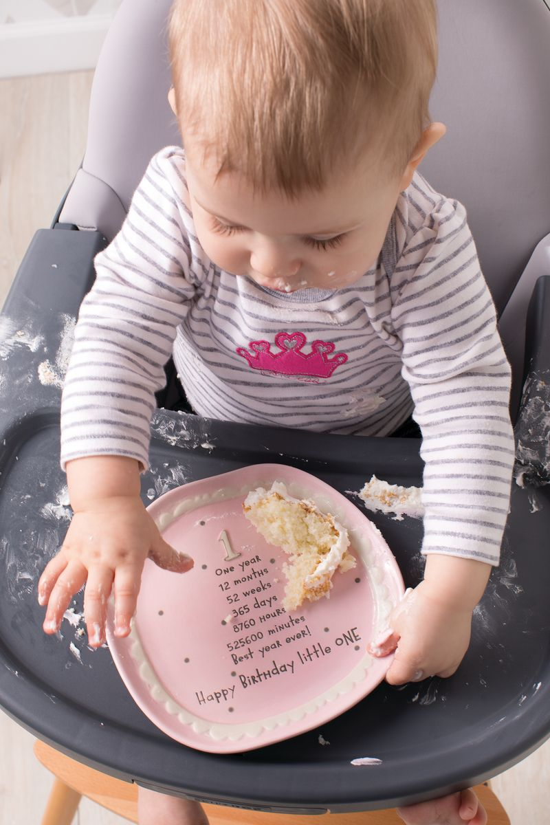This Babys First Birthday Plate Features Sentiments Which Reflect The Joy Of Celebrating Year