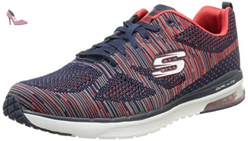 Skechers Air Infinity Rapid Fire, Fitness Homme, Bleu (Marine/Rouge),