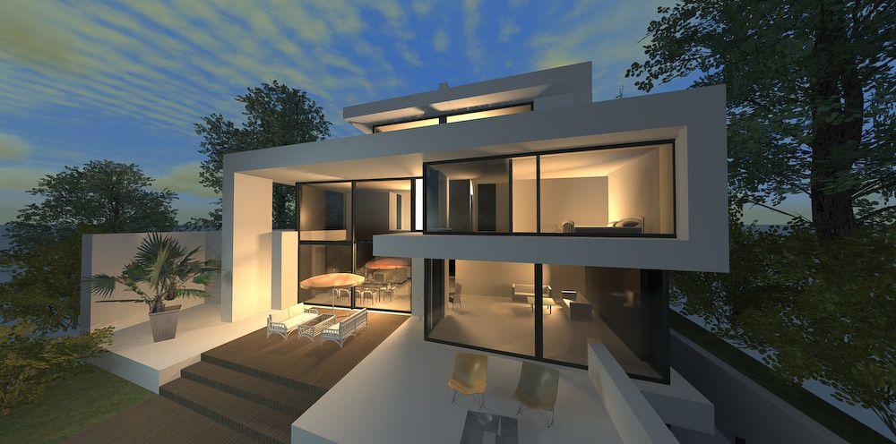 Lieblich Neubau Haus Moderne Architektur | Architekt Haus