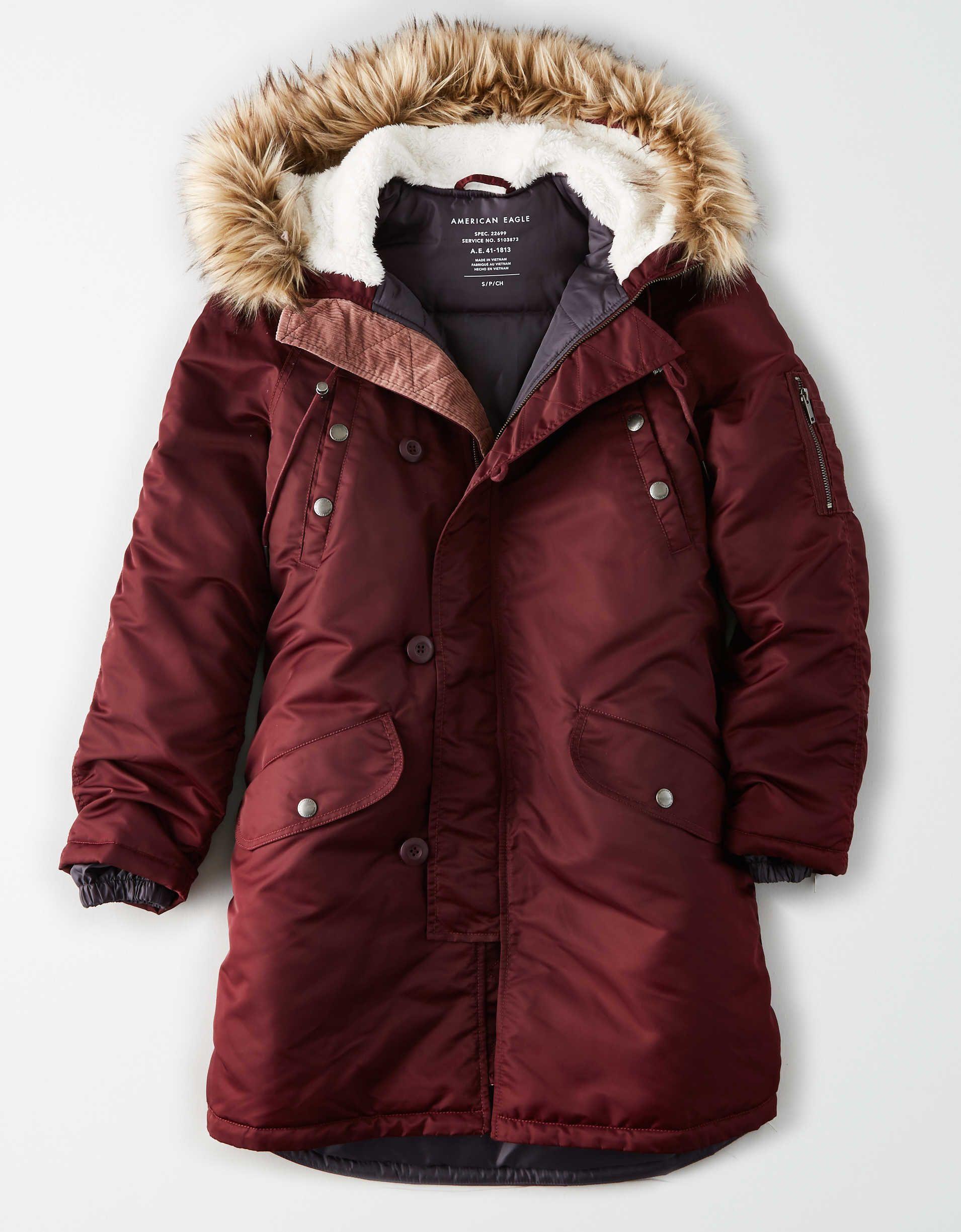 Ae Satin Parka Shop Womens Jackets Mens Outfitters Coats Jackets Women [ 2449 x 1910 Pixel ]