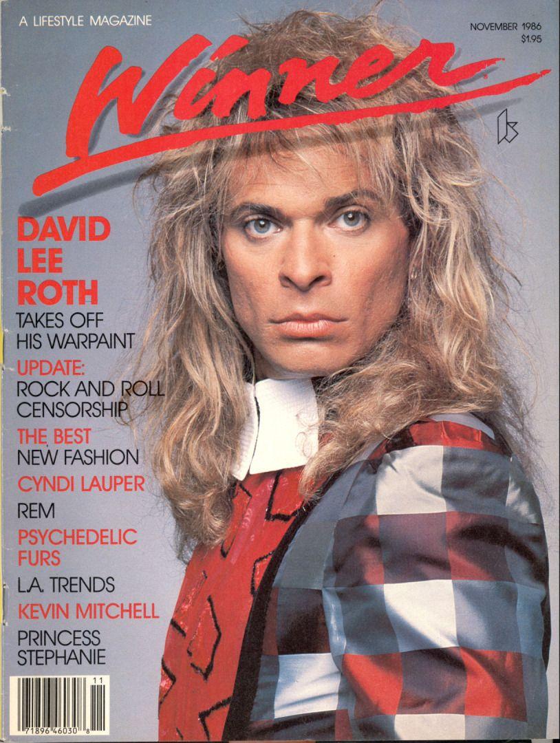 David Lee Roth Winner Magazine November 1986 David Lee Roth David Lee Van Halen