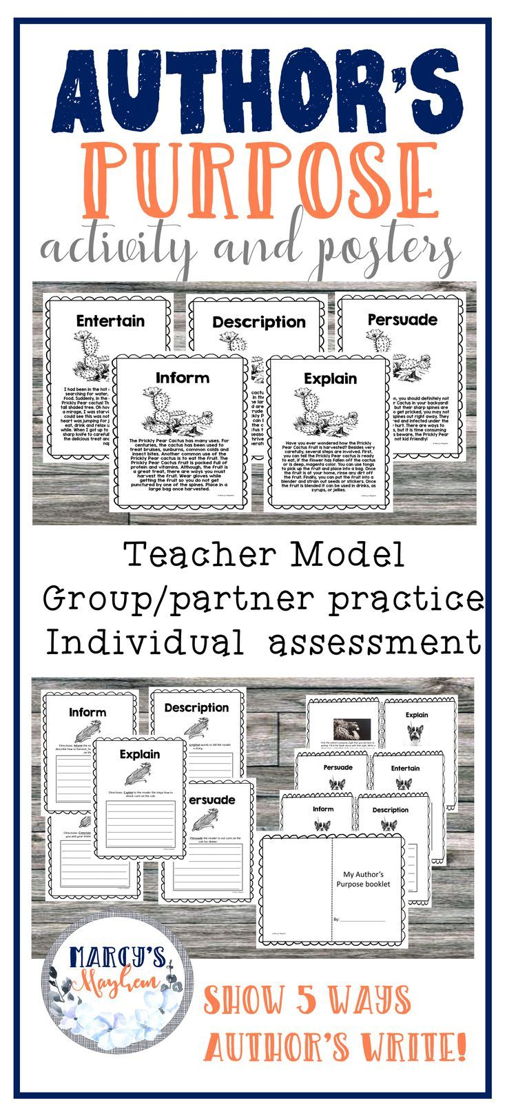 Author S Purpose Worksheets Activity For 4th Grade 5th Grade Authors Purpose Authors Purpose Activities Author S Purpose Worksheet