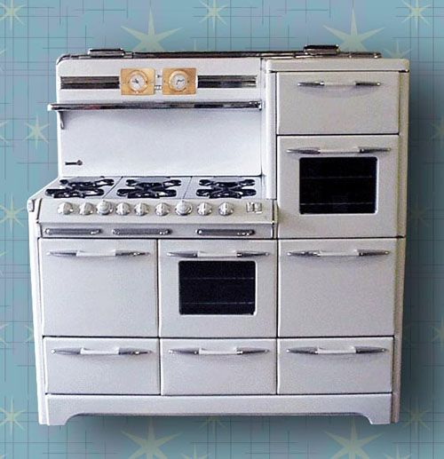 Country Kitchen Appliances: 1951 O Keefe & Merritt Aristocrat Town & Country Restored