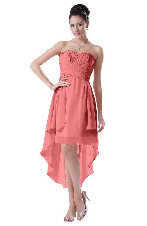 2e4b659f187 Desert Flower Hawaiian A-line Sleeveless Chiffon Tea Length Ruching Evening  Dresses