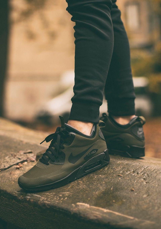 new products fe5dc 09ce1 ... sneakerboot winter dark loden black bright crimson footshop d7a49  a5d22  spain nike air max 90 mid winter dark loden via chmielna 20 070f1  bba13
