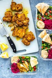 Chicken Shawarma Meal Prep Bowls #favourites Chicken Shawarma Meal Prep Bowls,  #Bowls #Chicken #fav...