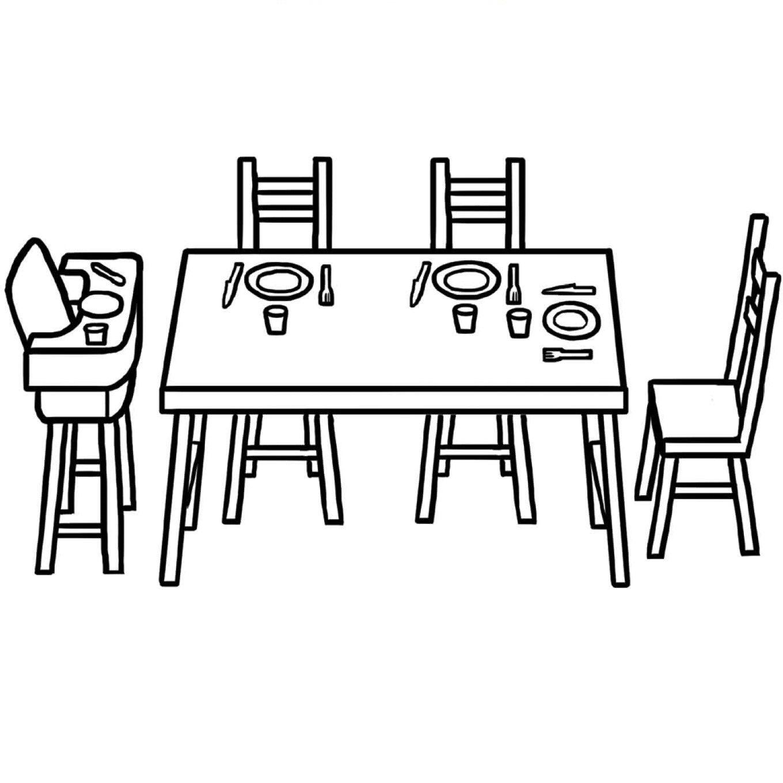 table manger dessin colorier coloriage printable. Black Bedroom Furniture Sets. Home Design Ideas