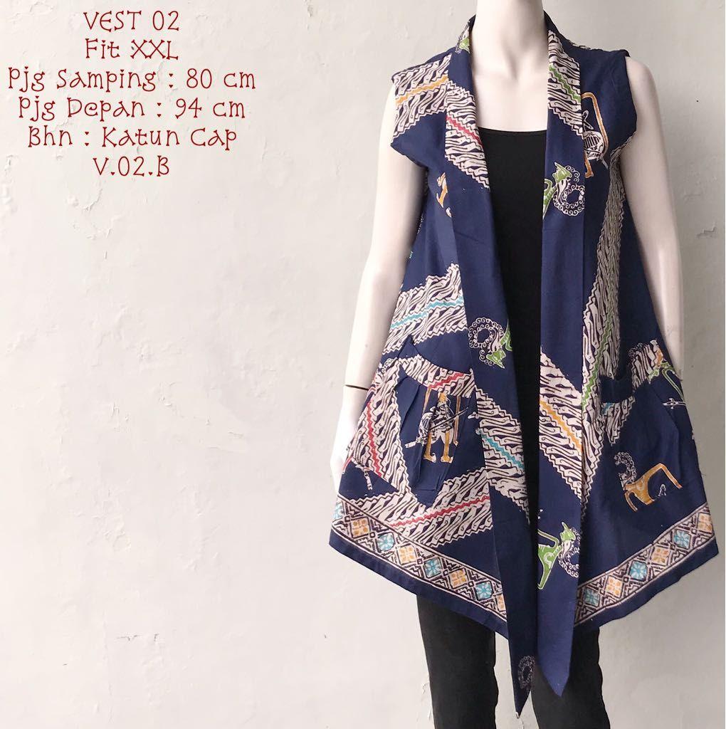 Batik Bagoes Solo  Toko Batik Online Terpercaya  Rompi wanita