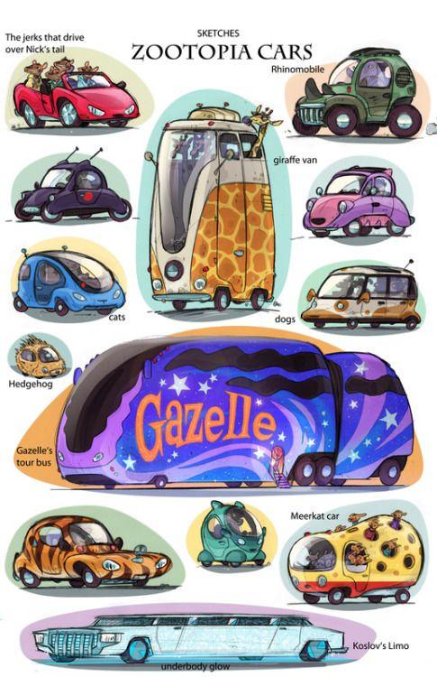 Zootopia Car : zootopia, Disneyconceptsandstuff, Disney, Concept, Zootopia