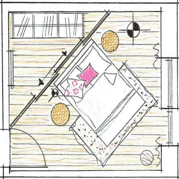 Raumteiler Schlafzimmer (wenn Schrank wieder aus Ankleide weg - schlafzimmer nach feng shui einrichten