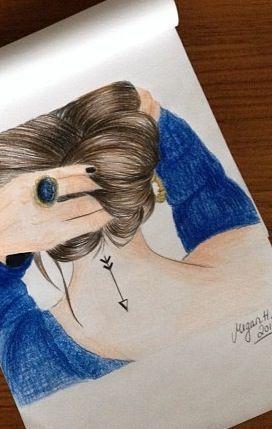 Meisje Van De Achterkant Tekenen Pinterest Tekenen