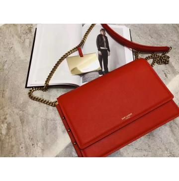 Saint Laurent Zoe Bag in Red Leather – 2019  94ba2add6a17f