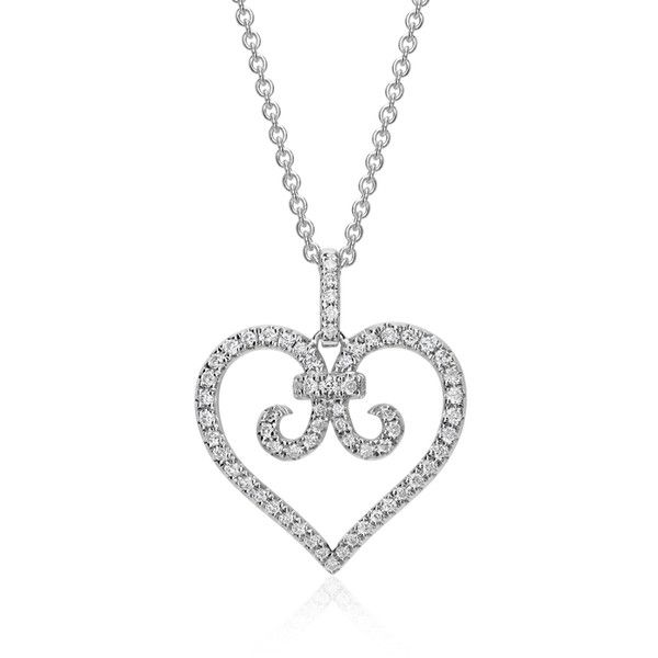 Blue nile heart scroll diamond pendant 995 liked on polyvore blue nile heart scroll diamond pendant 995 liked on polyvore featuring jewelry aloadofball
