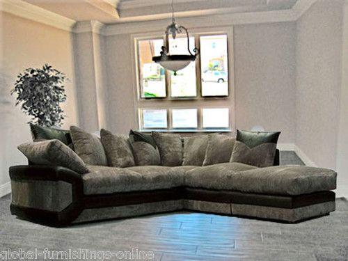 New Scs Jumbo Cord Dino Corner Sofa In Black Or Brown In Righthand And Lefthand Ebay Corner Sofa Furniture Sofa